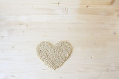 Brown Rice Heart Stock Images