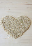Brown Rice Heart Stock Image