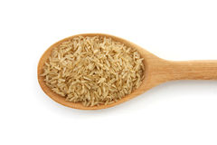 Free Brown Rice In The Spoon Isolated Stock Photo - 38604820