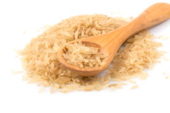 Brown rice over the spoon Royalty Free Stock Photo