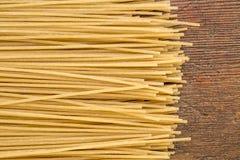 Brown rice pasta, spaghetti style Stock Image