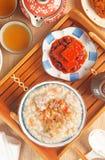 Brown rice porridge Stock Image
