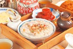 Brown rice porridge Stock Photo