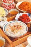 Brown rice porridge Stock Images