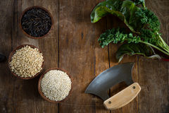 Brown Rice, Quinoa And Wild Rice Royalty Free Stock Images