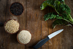 Brown Rice, Quinoa and Wild Rice Royalty Free Stock Photo
