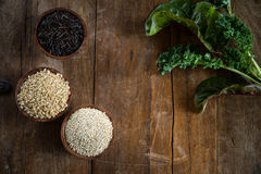 Brown Rice, Quinoa and Wild Rice Stock Image