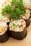 Brown Rice Roll Stock Photo