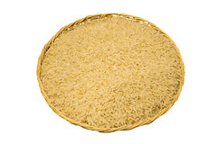 Brown Rice or Unpolished Rice in basket Royalty Free Stock Photo