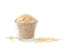 Brown Rice or Unpolished Rice Stock Photography