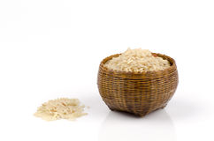 Brown rice, unpolished rice, milled rice imperfectly cleaned, half milled rice ((Oryza sativa L.). Royalty Free Stock Photo