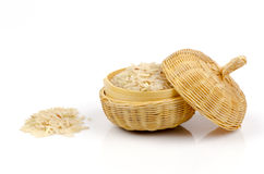 Brown rice,unpolished rice,milled rice imperfectly cleaned,half milled rice ( (Oryza sativa L.) Stock Image