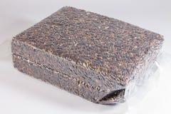 Brown rice in vacuum package Royalty Free Stock Image