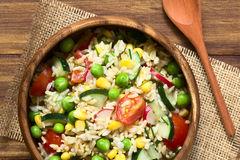 Brown Rice and Vegetable Salad Stock Images