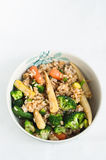 Brown rice with vegetables Royalty Free Stock Images