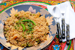 Brown Rice with Vegetables Royalty Free Stock Photography