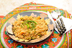 Brown Rice with Vegetables Stock Photos