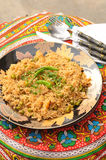 Brown Rice with Vegetables Stock Images