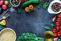 Brown rice with vegetables Royalty Free Stock Photos
