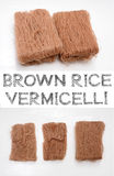 Brown Rice Vermicelli Royalty Free Stock Photo