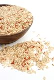 Brown rice. Is in wooden blow Royalty Free Stock Photos