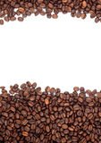 Brown roasted coffee beans. Isolated on white background Stock Photography