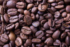 Brown roasted coffee beans, background texture Stock Image