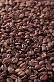 Brown roasted coffee beans, background texture Stock Photo