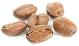 Brown Roasted Coffee Beans Close-up Royalty Free Stock Image