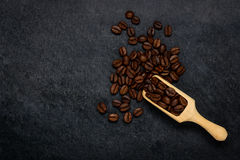 Brown Roasted Coffee Beans with Copy Space stock image