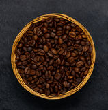 Brown Roasted Coffee Beans royalty free stock image