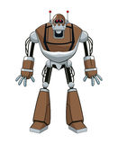 Brown robot electric mechanical Royalty Free Stock Photography