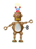 Brown Robot Royalty Free Stock Image