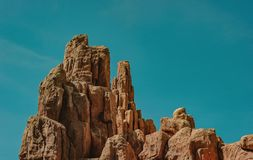 Brown Rock Formation Stock Images