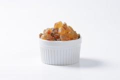 Brown rock sugar crystals Stock Images