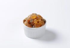 Brown rock sugar crystals Royalty Free Stock Photos