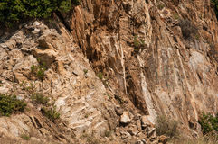 Brown rocks in mountains Royalty Free Stock Image