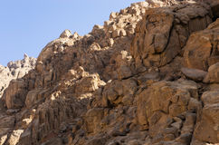Brown rocks of Sinai Royalty Free Stock Photography