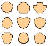 Brown rocznika ramy - set Zdjęcia Stock