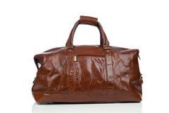 Brown rocznika rzemienna torba Zdjęcia Royalty Free