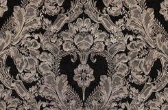 Brown rocznika tkanina z adamaszka wzorem jako tło Zdjęcie Stock