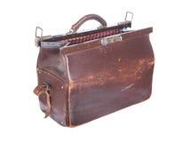 Brown rocznika valise Zdjęcie Royalty Free