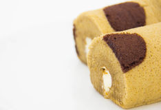Brown roll cake Royalty Free Stock Photo