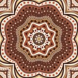 Brown romantic pattern. Vector illustration Royalty Free Stock Photo