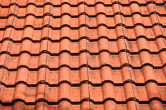 Brown roof. Close up brown roof for use texture background Royalty Free Stock Photography
