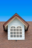 Brown roof on blue sky Royalty Free Stock Photos