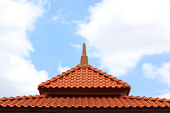Brown Roof on blue sky, background Royalty Free Stock Photo
