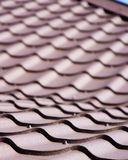 Brown roof of metal roofing Royalty Free Stock Photography