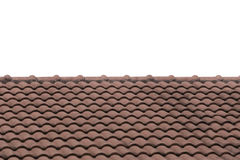Brown Roof tile isolated on white background. Royalty Free Stock Images