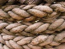 Brown rope. Closeup of brown rope Royalty Free Stock Images